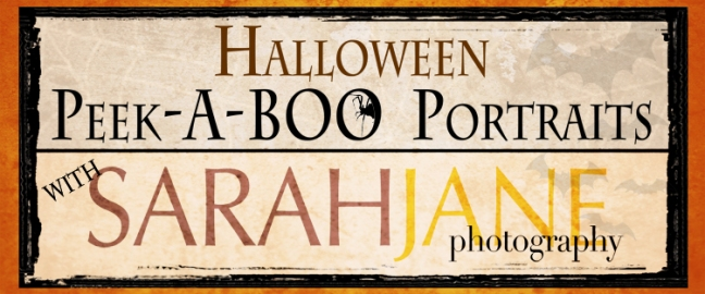 Our banner for the Peek-A-Boo Portrait event at the SCREAM!