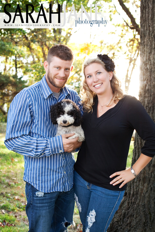 engagement photos, couple portraits, family portraits, decatur, illinois, sarah jane photography, pet photography, outdoor portraits, family posing, outdoor lighting, sunset photos, fall photos