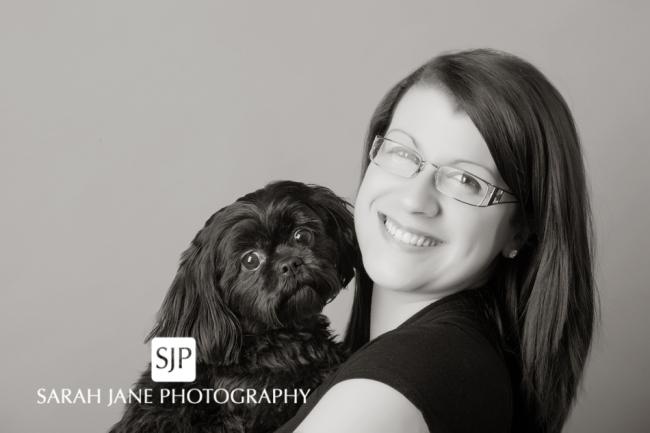 Image, photo, senior portraits, studio, dog photography