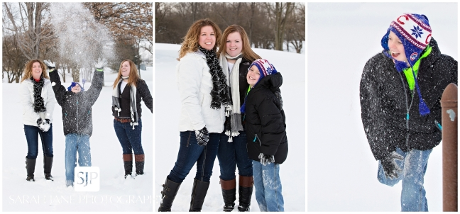 family session decatur il, snow session, outdoor family portraits in the snow, forsyth il photographer